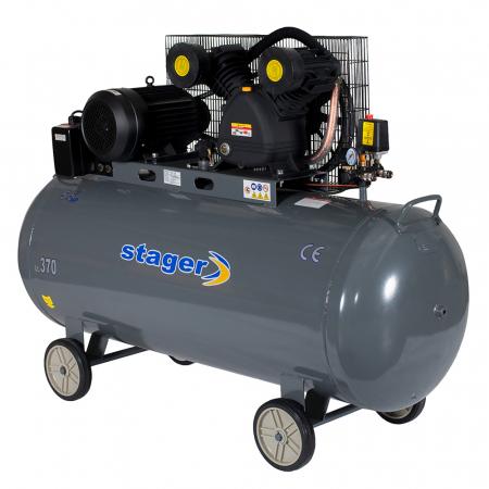 Compresor aer Stager HMV0.6/370, 370L, 8bar, 600L/min, trifazat, angrenare curea0
