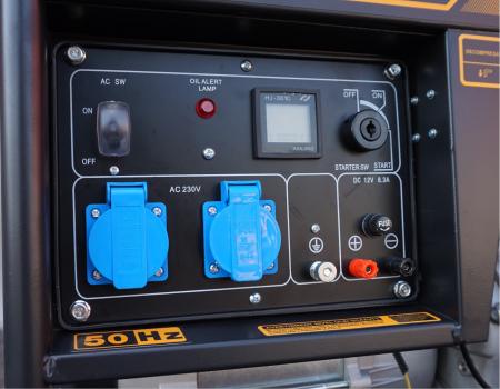 Stager YDE6500E Generator open frame diesel monofazat, 4.5kW, pornire la cheie [0]