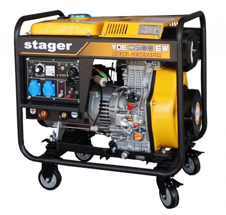 Stager YDE8500EW Generator sudare diesel monofazat, 2kVA curent sudare 200A, pornire la cheie1