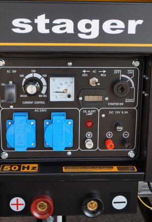 Stager YDE8500EW Generator sudare diesel monofazat, 2kVA curent sudare 200A, pornire la cheie0