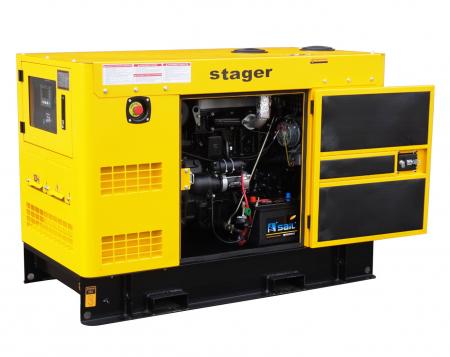 Stager YDY15S-E Generator insonorizat diesel monofazat 14kVA, 20A, 1500rpm [0]