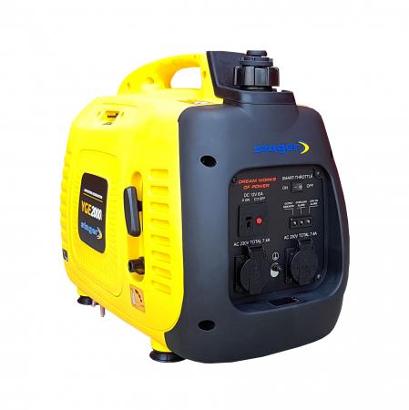 Stager YGE2000i Generator digital invertor monofazat, 1.8kW, benzina, pornire la sfoara [2]
