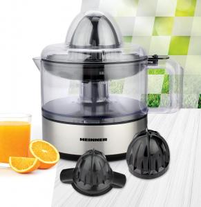 Storcator de citrice Heinner Limme C300SS, 30W, 500ml, 2 conuri, filtru dublu, decoratii inox3