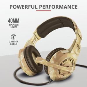 Trust GXT 310D Radius Gam Headset - Camo5