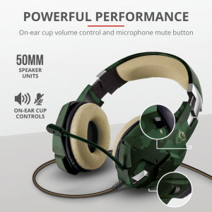Casti Gaming Trust GXT 322C Carus, Microfon, Jack 3.5mm (Verde)7