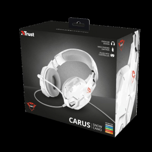 Casti gaming Trust GXT 322W, White camouflage10