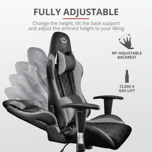 Trust GXT 707G Resto Gaming Chair - grey1