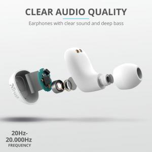 Trust Nika TWS Bluetooth Earphones White10