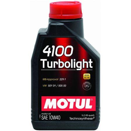 Ulei motor Motul 4100 Turbolight, 10W40, 1L0