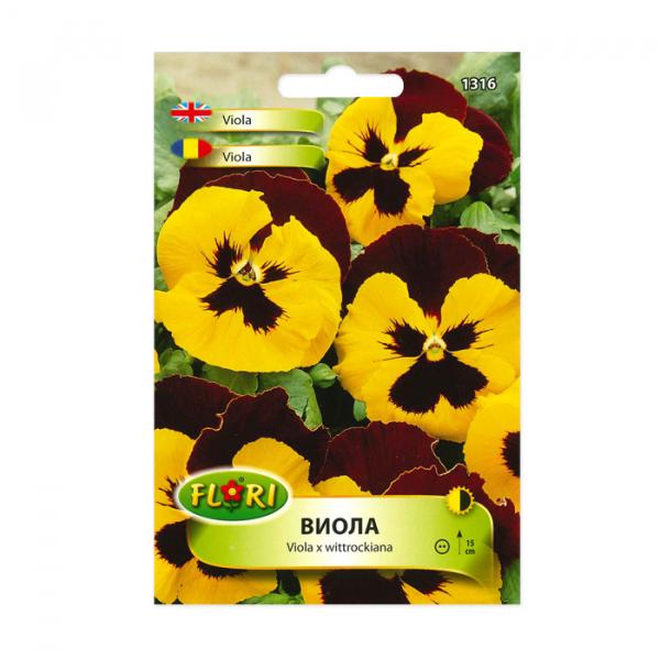 Seminte de flori, Florian, Viola, galben cu maro 0