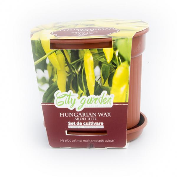 Set de cultivare Ardei iute Chilli Hungarian Wax 0
