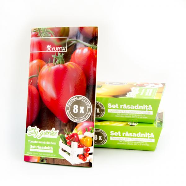 Set rasadnita medie tomate inima de bou 0