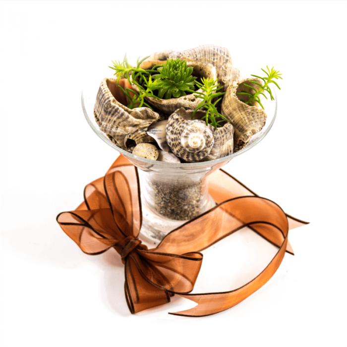 Aranjament floral Marin cu sedum si sempervivum   0