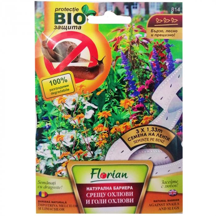 Bariera naturala impotriva melcilor si limacsilor - 3 Benzi cu seminte x 1.33 m [0]