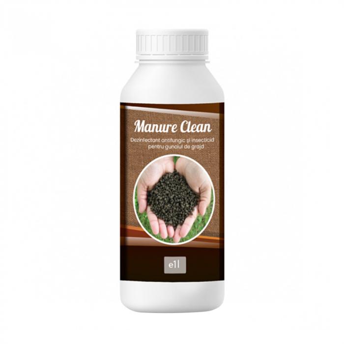 Dezinfectant bio pentru gunoiul de grajd Manure Clean 1 L 0