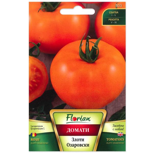 Eminte de tomate orange semitimpurii nedeterminate Zloty Ozarowski, 0,5 grame 0