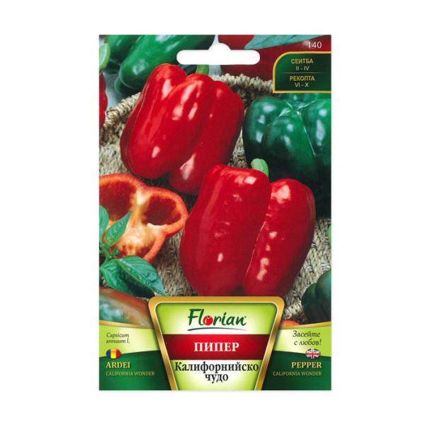 Seminte ardei gras, Florian, soi California wonder, timpuriu, 100 g 0