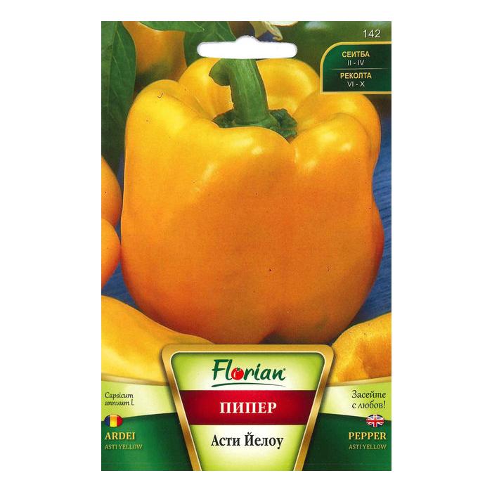 Seminte de ardei gras, Florian, soi asti galben, timpuriu, 1 g 1