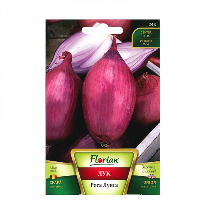 Seminte de ceapa rosa lunga, Florian, 2 grame 0