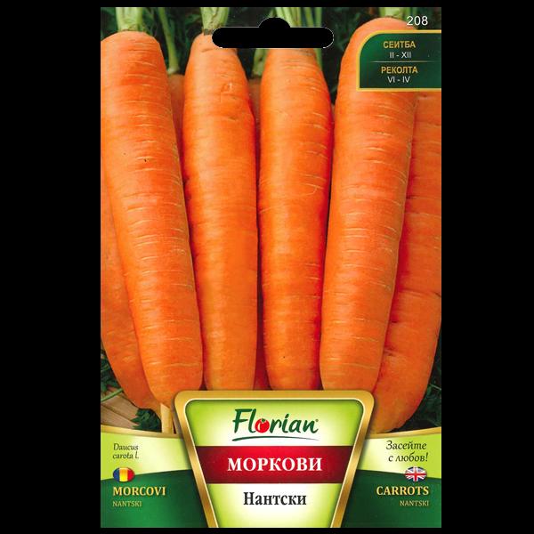 Seminte de morcovi Nantes, Florian, 5 grame 0