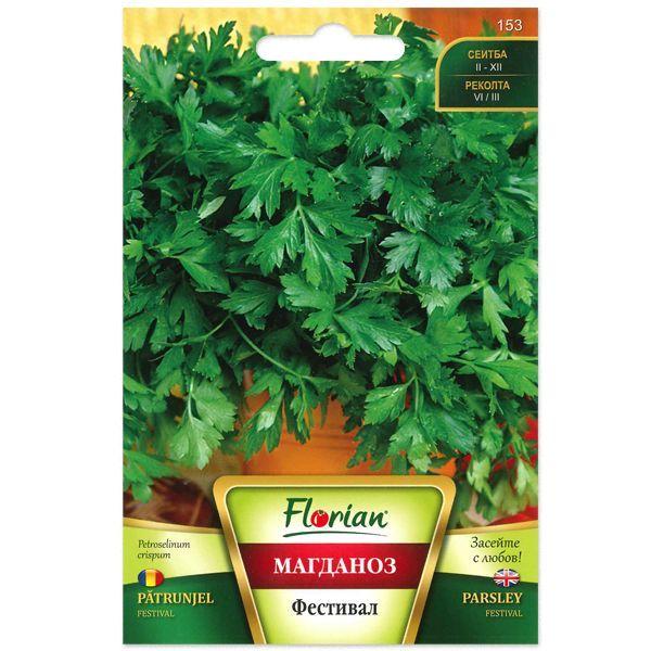 Seminte de patrunjel festival, Florian, frunze mari cu aroma puternica, 10g 0