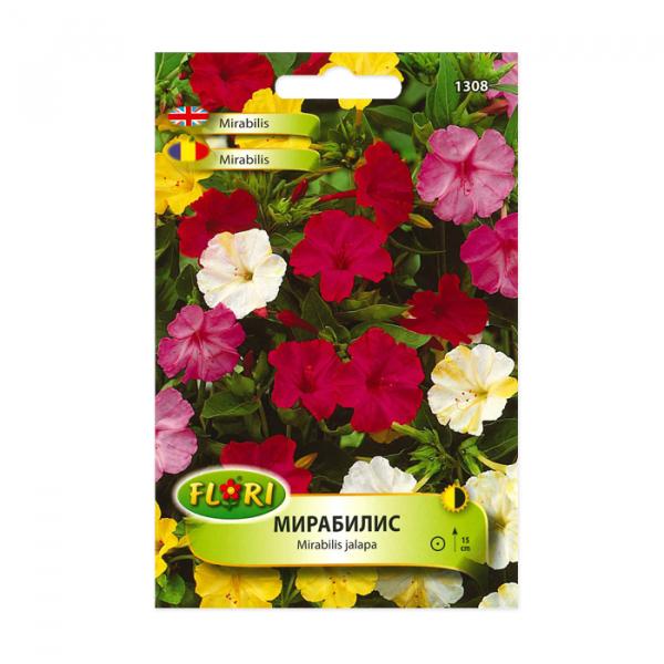 Seminte flori, Florian, Mirabilis-Frumoasa noptii, multicolor, 2.5 g 0