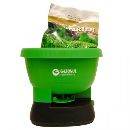 Aplicator electric seminte si ingrasaminte gazon Easy Drop, 2,7 litri+ ingrasamant cadou0