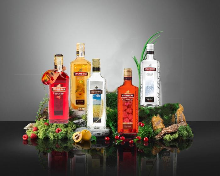 Pachet Vodka Stumbras Family 5 in 1 Cranberry, Centenary, Pure, Rasberry. Quince [0]