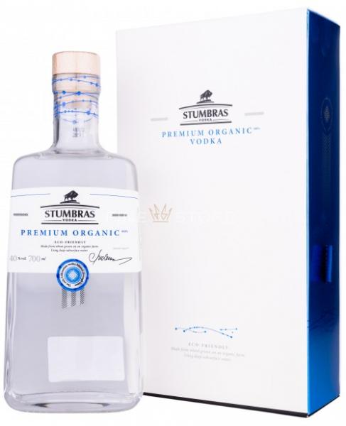 Stumbras Vodka Premium Organic 07 L 40 grade Alcool Cutie Cadou [0]