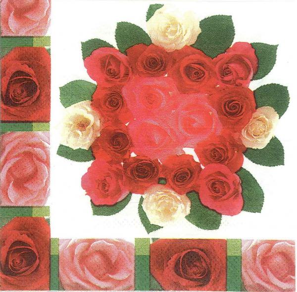 Servetel buchet cu trandafiri 0