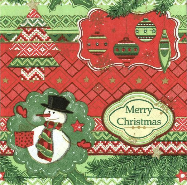 Servetel decorativ Merry Christmas 0
