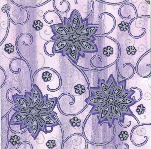 Servetel decorativ violet cu fulgi argintii 0