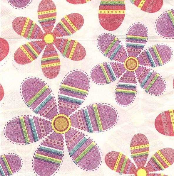 Servetel decorativ - flori cu modele geometrice 0