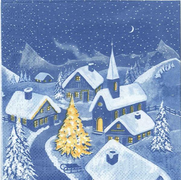 Servetel decorativ peisaj de iarna 0