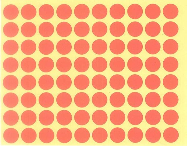 Sticker cercuri portocalii / 480 bucați 0