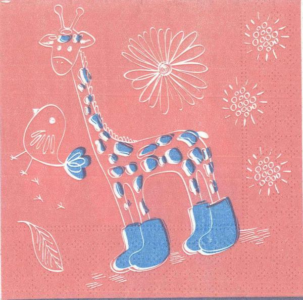 Servetel decorativ girafa 0