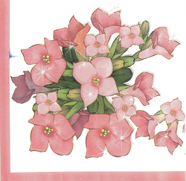 Servetel cu flori roz 0