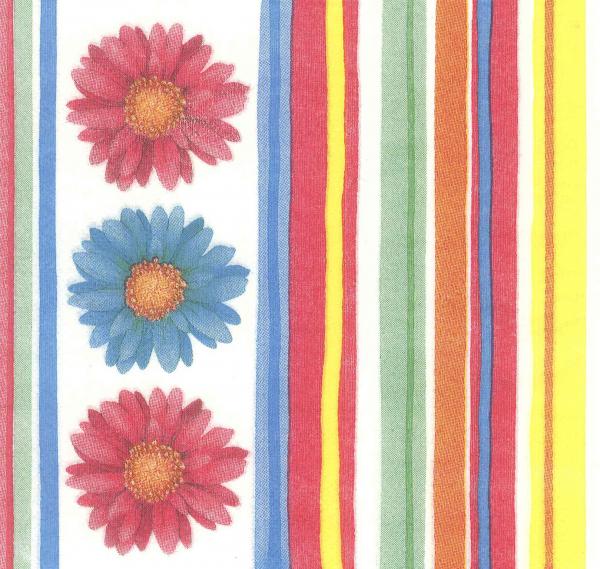 Servetel decorativ cu flori si linii 0