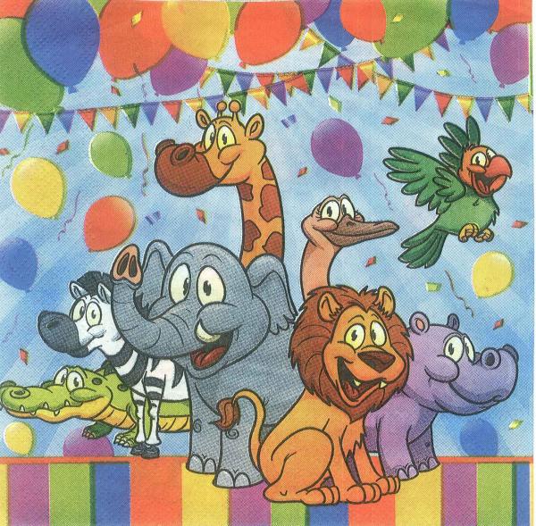 Servetel decorativ petrecerea animalelor 0