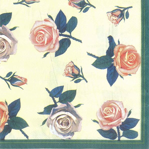 Servetel decorativ - trandafiri cu tulpina 0