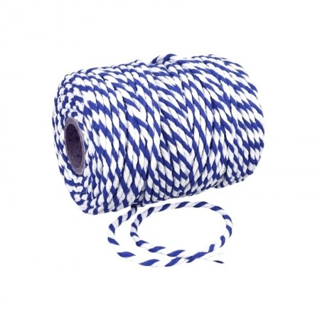 Sfoara bumbac alb-albastru 10 m 0
