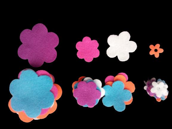 40 flori fetru 0