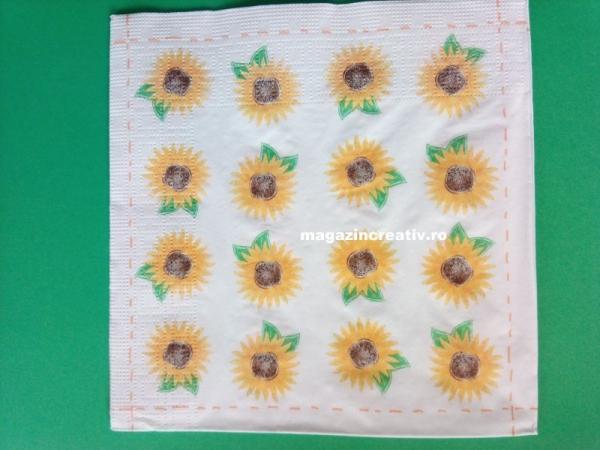 Şerveţel mini floarea soarelui 0