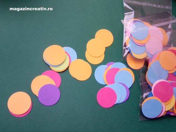 Cercuri multicolore 2,5 cm 0