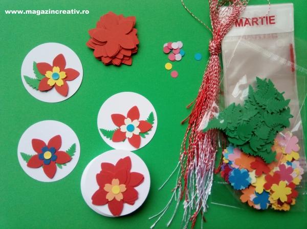 Set confectionare 30 de martisoare Medalion cu floare [0]