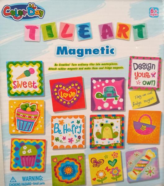 Magneti gresie pictura pe ceramica - set creatie 0