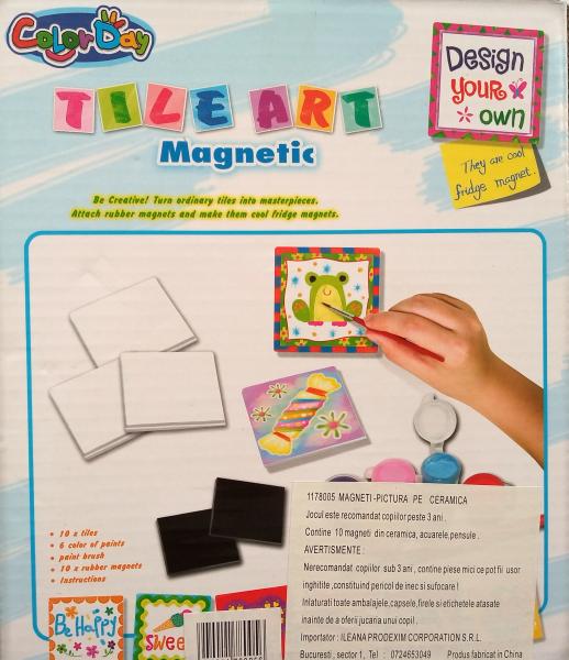 Magneti gresie pictura pe ceramica - set creatie 1