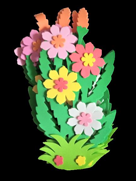 Set decorativ strat cu flori - 6 bucati [0]