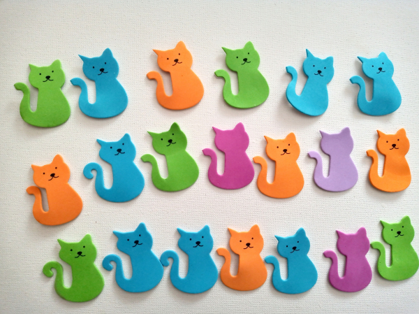 Figurine buretate autoadezive - PISICI 0