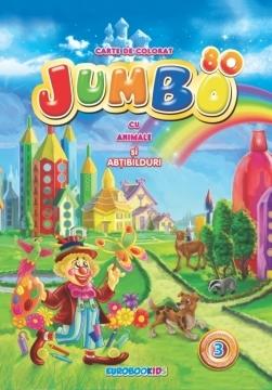 JUMBO nr. 3 - Carte de colorat cu ANIMALE + cadou 0